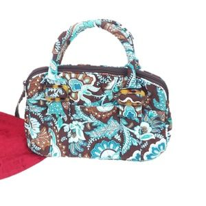 Vera Bradley Java Blue Floral Purse Bag
